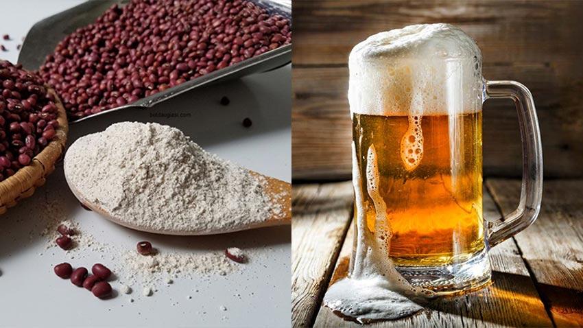 Bột đậu đỏ & bia - Cách tắm trắng tại nhà hiệu quả nhanh nhất