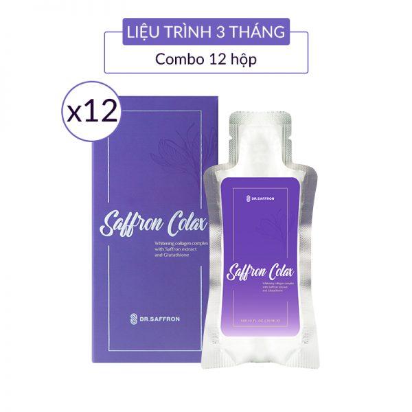 collagen-saffron-colax 12 hộp 3 tháng