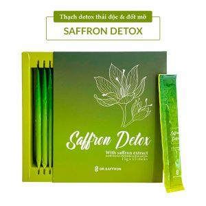 thạch giảm cân saffron detox