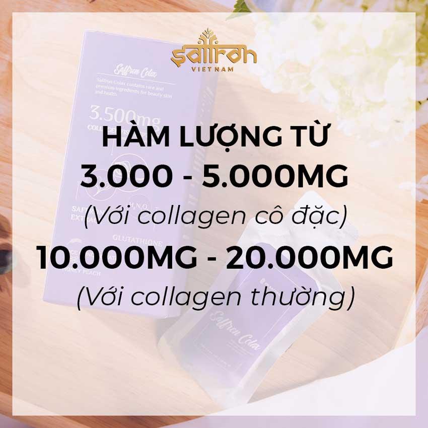 Uống hàm lượng collagen quá ít