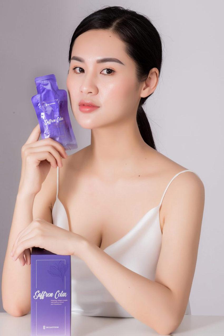 Cách dùng collagen Saffron Colax