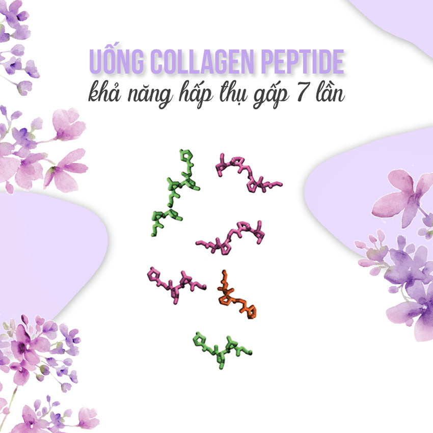 Uống collagen peptide
