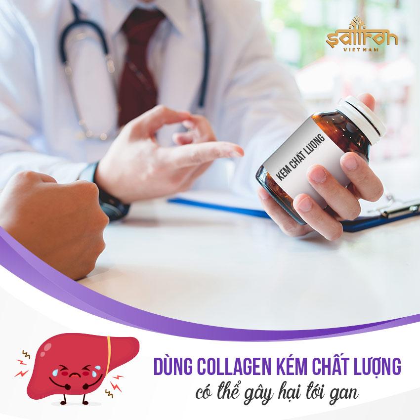 Uống collagen có hại gan không?