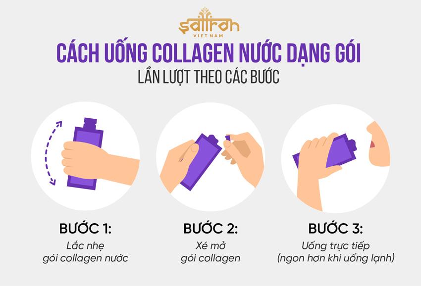 Cách uống collagen nước