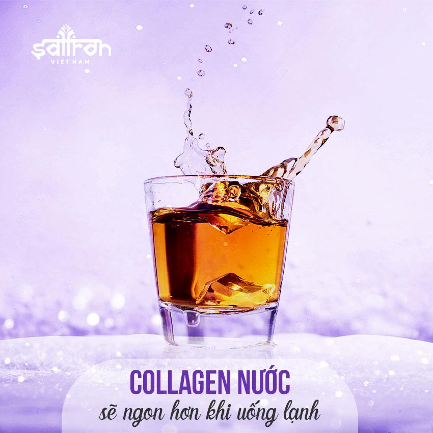 Nên uống collagen nước với gì?