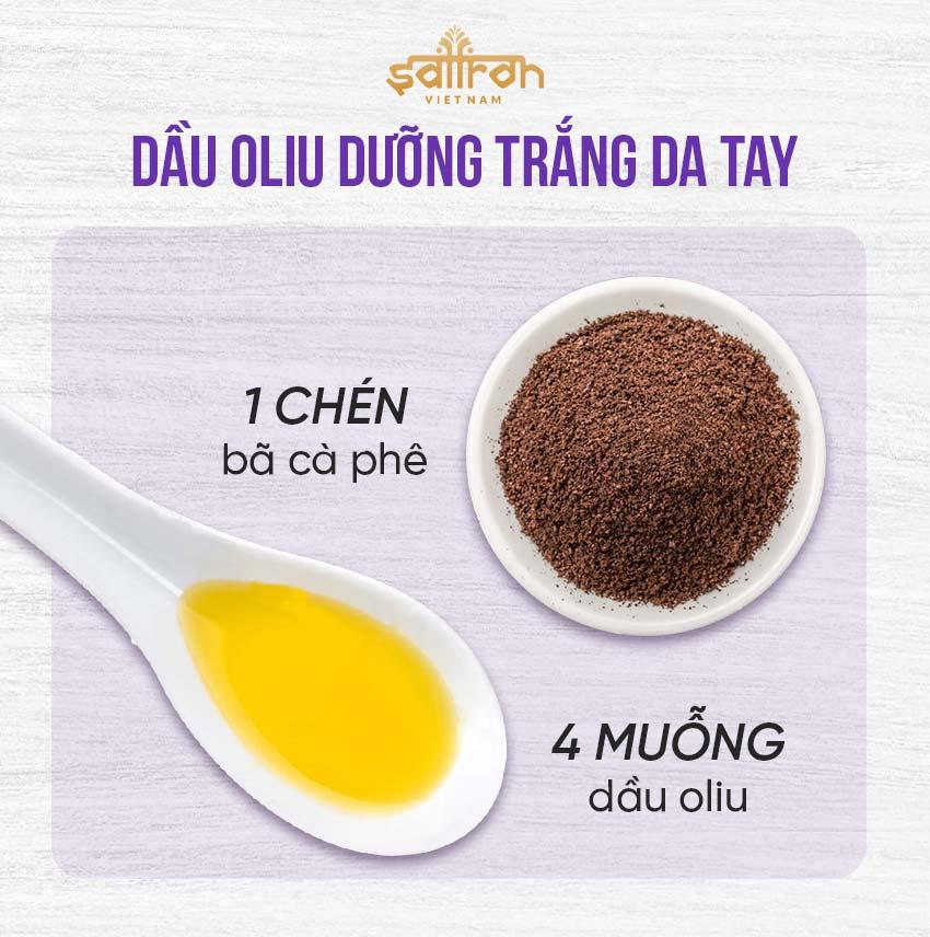 6. Trắng da với dầu oliu