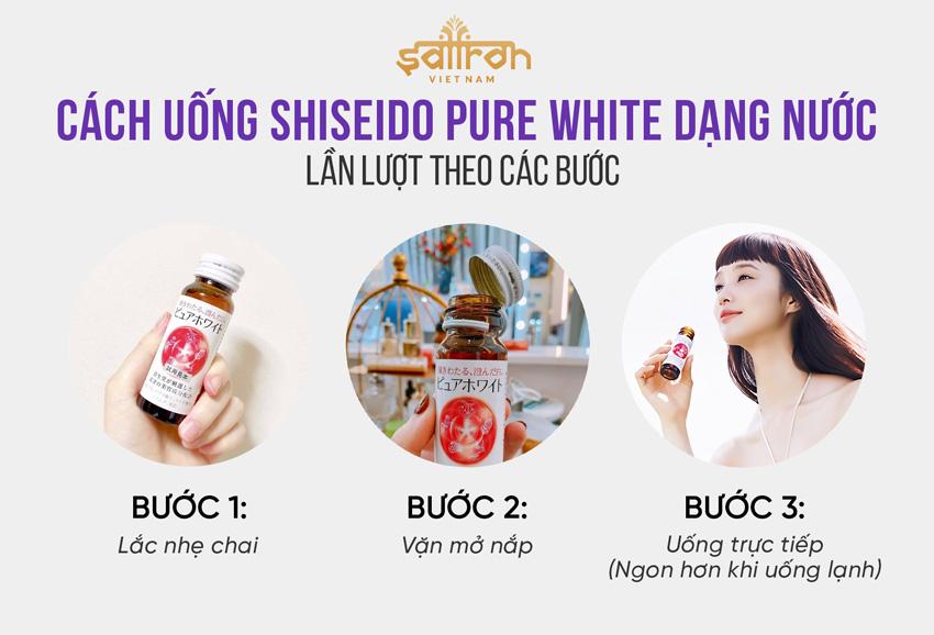 Cách dùng Shiseido Pure White dạng nước