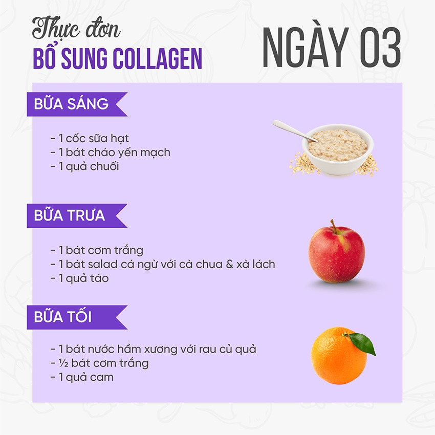 Gợi ý thực đơn 7 ngày giúp bổ sung collagen nhanh nhất